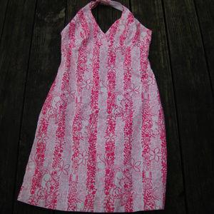 Lilly Pulitzer Pink Halter Dress 6 Boardwalk Cafe